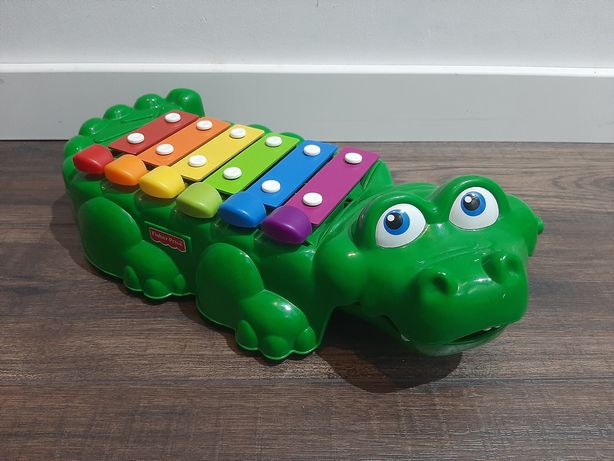 Krokodyl Fisher Price Cymbalki Ksylofon