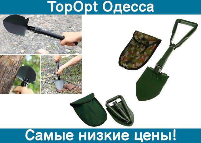 Складная туристическая лопата Shovel 3 в 1 с чехлом трансформер