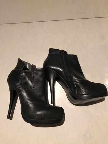 Buty damskie Bronx skórzane