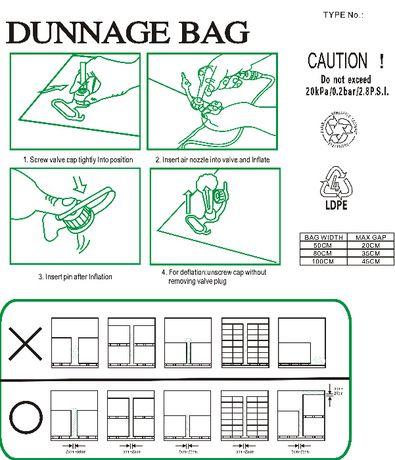Worek sztauerski, poduszka powietrzna, dunnage bags 90 x 180 cm