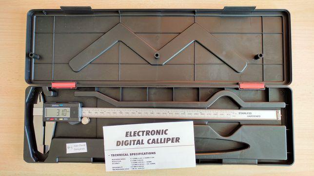 Paquímetro 300 mm metal metálico aço peclisse craveira vernier digital