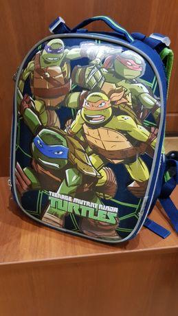 Рюкзак шкідьний каркасний 1 Вересня Н-25 Ninja Turtles