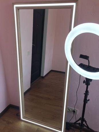 Зеркало с подсветкой. Гримерное, визажное, бытовое