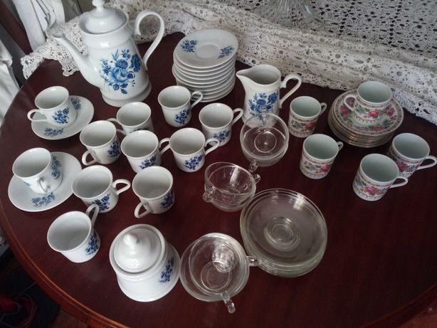 3 conjuntos de chá (serviços de chá)