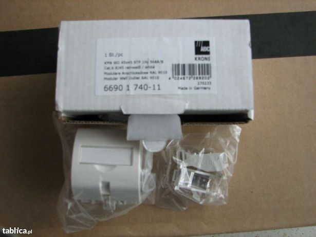 Moduł gniazda ekranowanego KRONE 45x45 1xRJ-KM8 STP kat.   6