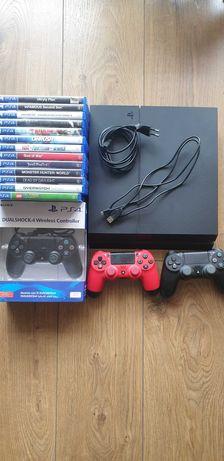 KONSOLA SONY PS4 PLAYSTATION+ 3Pady+Okablowanie+13GIER!!! 1350ZŁ