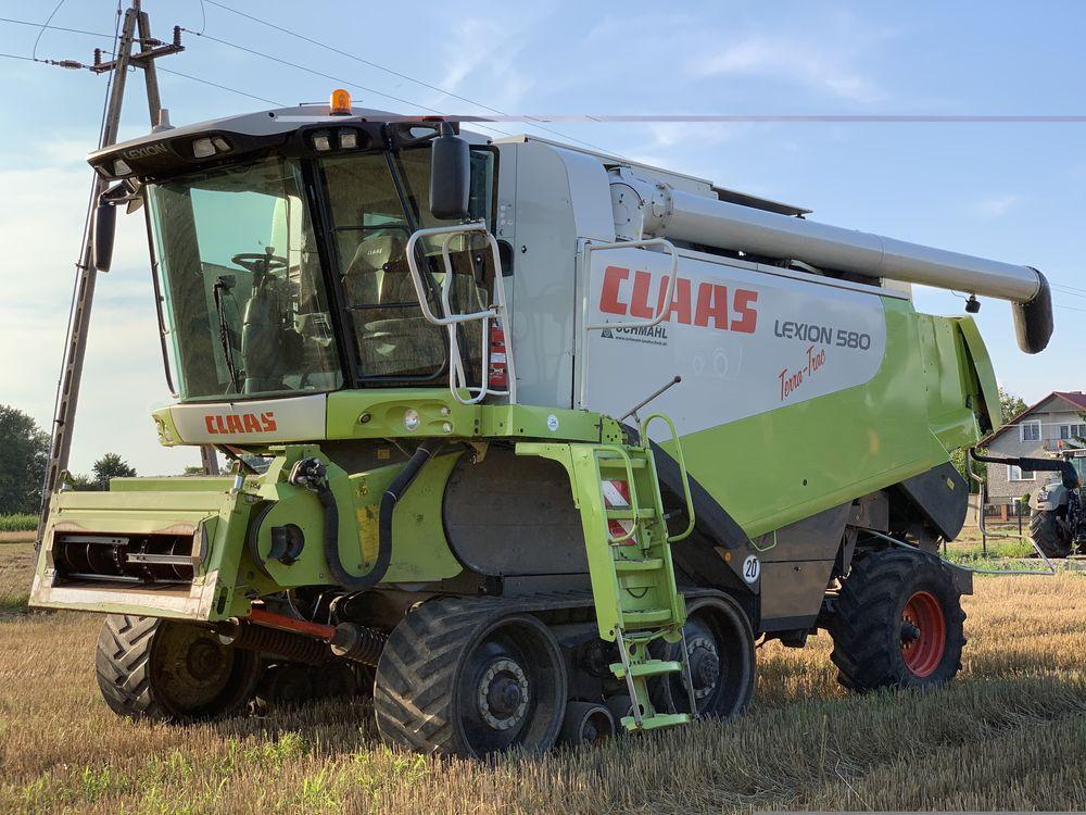 Kombajn zbożowy Claas Lexion 580 Terra Trac+ heder V900