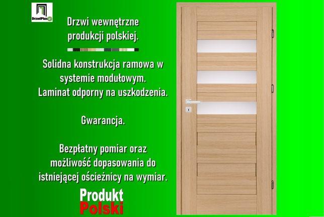 Solidne polskie drzwi wewnętrzne ramowe w dobrej cenie.