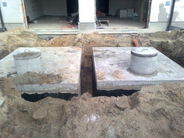 Szambo betonowe 12m3 transport wykop montaż Białystok, Bielsk Podlaski
