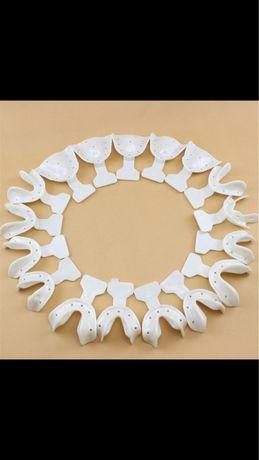 14 x Moldeiras dentista moldagem dentária bandejas plástico - Novo