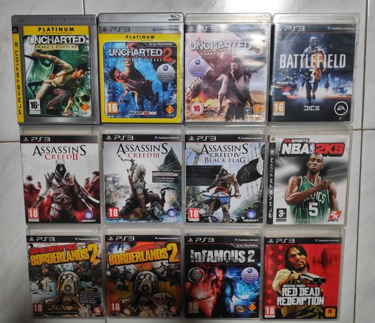 12 Jogos PS3 (1 Jogo a 10€, 3 Jogos a 25€ e 5 Jogos a 40€)