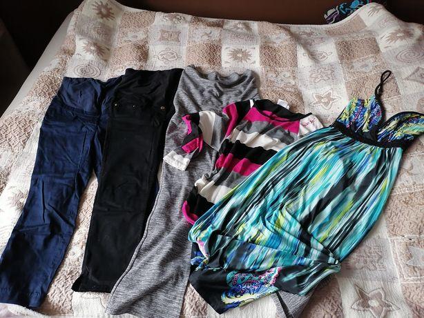 Ubrania ciążowe spodnie bluzka sukienka S