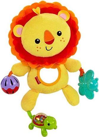 Развивающая подвеска мягкая игрушка fisher price лев львёнок