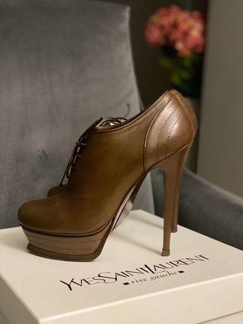 Оригинальные ботинки ysl на очень удобном каблуке