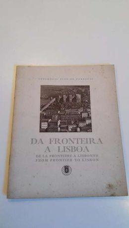 Mapa Itinerário da Fronteira a Lisboa