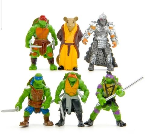 Conjunto 6 pcs Tartarugas Ninja (Portes Incluidos)