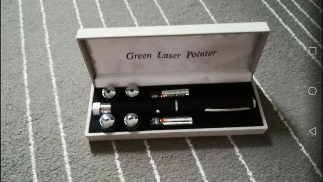 Zielony Laser + 5 nakładek z wzorami