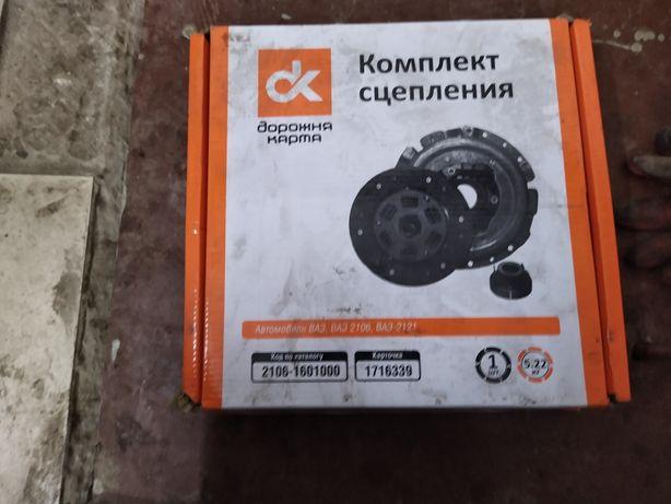 Комплект сцепления 2106-1601000 ДК новый на ВАЗ 2121 нива 2106 и тп