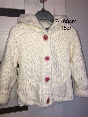 Sweterek,płaszczyk r.od 80 -104