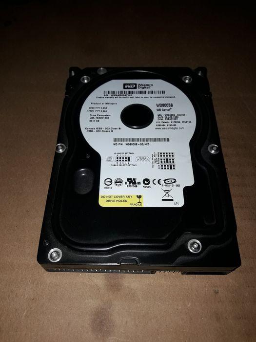 """3.5"""". Продам рабочий диск  (hdd). Western Digital WD800BB для ПК, 80gb Новоград-Волынский - изображение 1"""