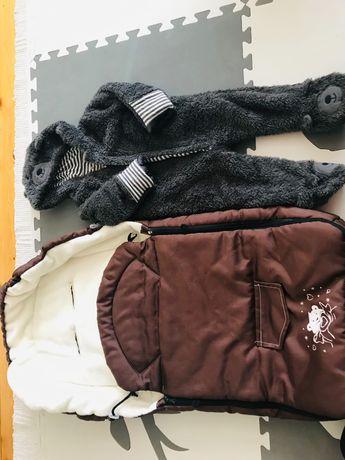 Śpiworek zimowy + kombinezon pluszowy