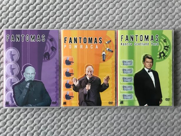 """Louis De Funes - """"Fantomas..."""" - 3 DVD (komplet - polski lektor)"""