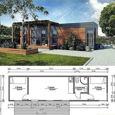 Новый модульный дом для круглогодичного проживания с мебелью