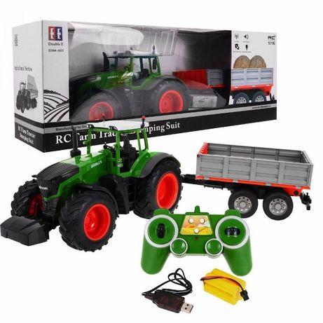 Duży Traktor z Przyczepą Zdalnie Sterowany DOUBLE E (E354-003)