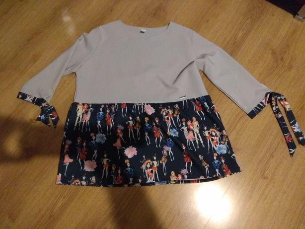 Śliczna bluzeczka bluzka XXL rozmiar około 50 jak nowa