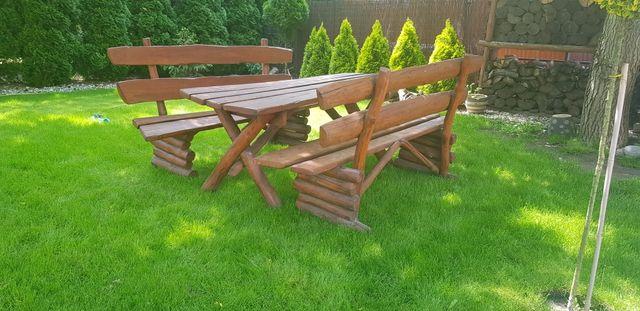 Meble ogrodowe stół i dwie ławki