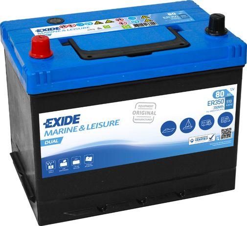 Akumulator Exide 12V80ah Marine dual Do głębokiego rozładowania