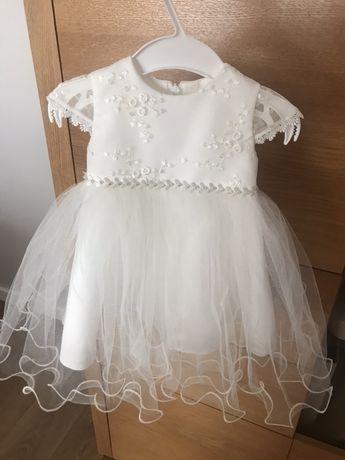 Sukienka do chrztu ecru 68/74 CHRZEST