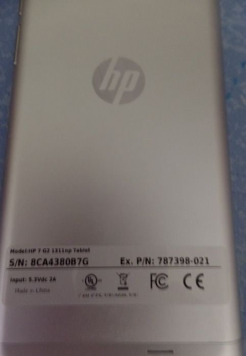 """Tablet HP 7"""" G2 1311NP (B13) Baião - imagem 1"""