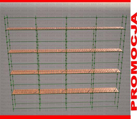 •KOMPLETNE Rusztowanie choinkowe klin 100m2, klinowe podesty TRANSPORT