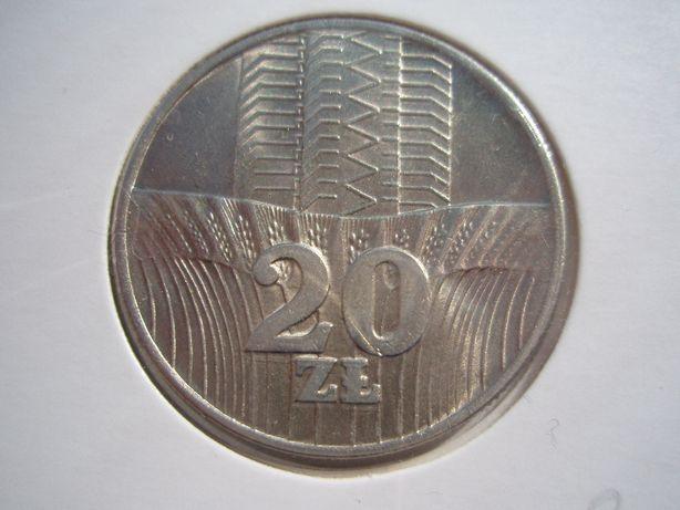20 złoty 1973 wieżowiec i kłosy