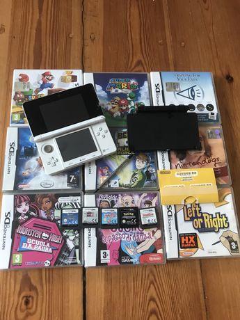 Nintendo 3ds + stacja ładująca + gry
