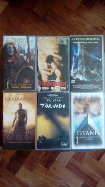 6 Filmes Originais em VHS