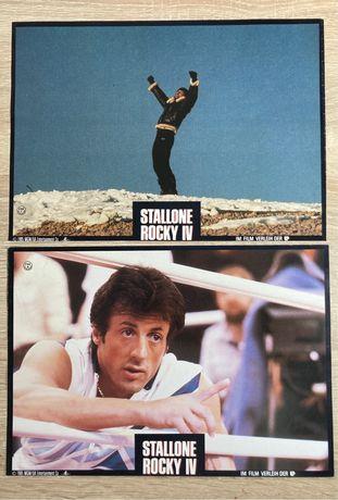 Rocky IV - 2x zdjęcia promo/ karty plakatowe - kadry kinowe