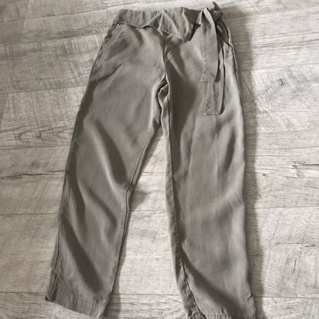 Spodnie na lato Zara r. 134 khaki