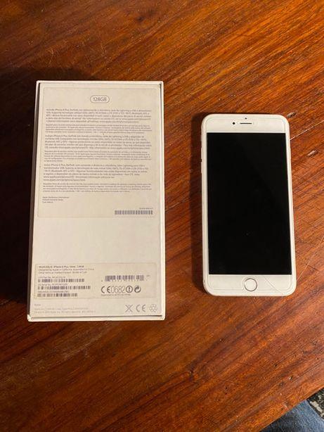 iPhone 6 Plus Silver 128 Gb bom estado com tudo a funcionar