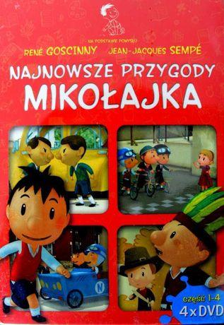 Najnowsze przygody Mikołajka Pakiet 4 x DVD Nowe