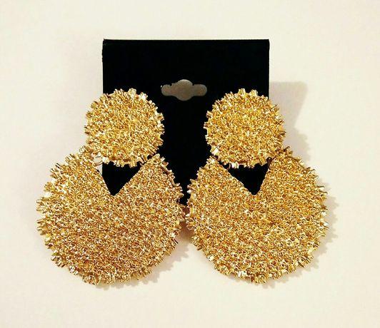 Kolczyki ASOS nowe złote duże efektowne piękne trendy na wesele