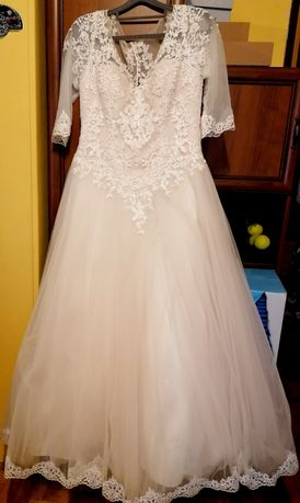 suknia ślubna +Gratisy-welon, buty taneczne 38,torebeczka,ozdoby