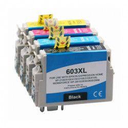 Conjunto 4 Tinteiros Compatíveis Epson T603XL