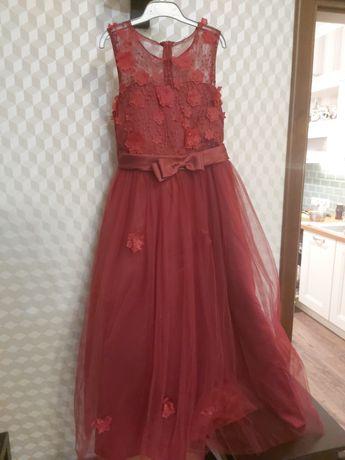 Нарядное новое платье в пол для девочки
