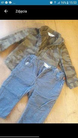 Spodnie koszula chłopiec 74