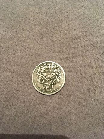 Moeda valiosa de 50 centavos de 1938