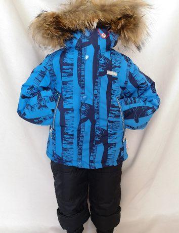 Новый зимний раздельный костюм,синий