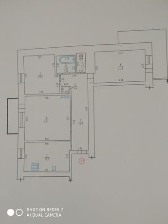 3-х комнатная квартира в районе 1 гор. больницы