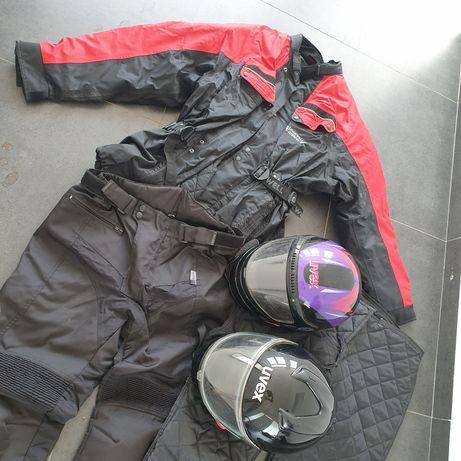 Casaco/calças e capacetes para mota